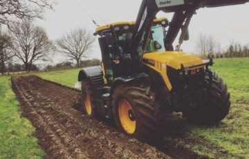 ploughing for new hedge planting